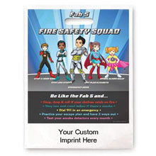 Custom Full Color Litterbag, Fab 5 Fire Safety Squad
