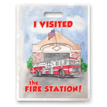 Full Color Litterbag, Visited The Fire Station Stock