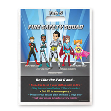 Full Color Litterbag, Fab 5 Fire Safety Squad Stock