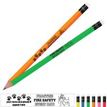 Practice Fire Safety Dalmatian Family Neon Pencil