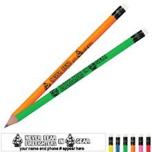 Never Fear Firefighters In Gear Neon Pencil