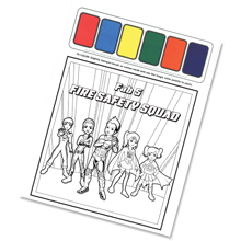 Fab 5 Fire Safety Squad Paint Sheet, Stock - Closeout, On Sale!