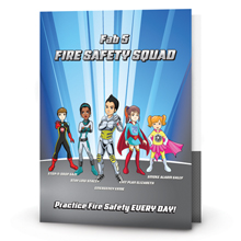 Fab 5 Fire Safety Squad Folder, Stock- Closeout, On Sale!
