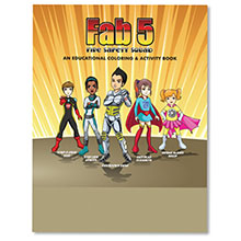 Fab 5 Fire Safety Squad Coloring Book, Stock