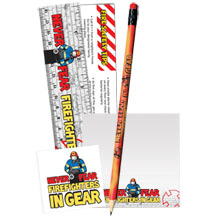 Never Fear Firefighters In Gear Teaching Aid Kit, Stock
