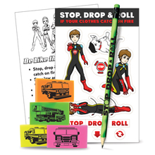 Stop, Drop and Roll Teaching Aid Kit, Stock