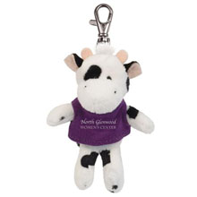 Black & White Cow Wild Bunch Plush Key Tag