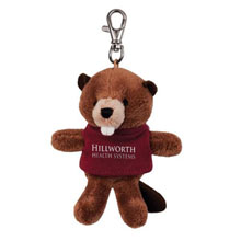 Beaver Wild Bunch Plush Key Tag