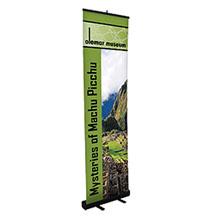 "Economy Retractor Banner Display Kit, 24"""