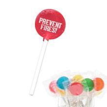 Prevent Fires Lollipop, Stock - Closeout!