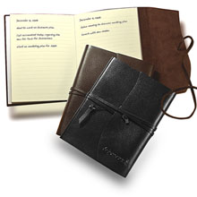 "Americana Leather-Wrapped Journal, 5-1/4"" x 6-3/4"""