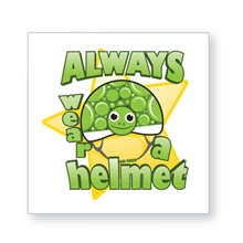 Always Wear a Helmet Temporary Tattoo, Stock - Closeout!
