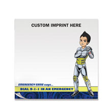 Dial 911 Emergency Ernie 25 Sheet Sticky Pad