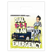 Dial 911 with Emergency Ernie Full Color Litterbag, Stock - Closeout!