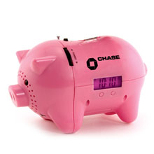 AM/FM Clock Radio Piggy Bank
