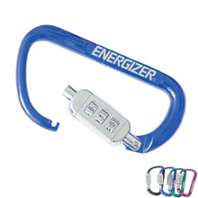Aluminum Carabiner Combination Lock