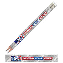 Emergency Medical Services Full Color Pencil, Stock