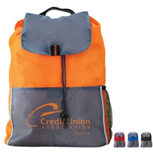 Adventure 210D Polyester Drawstring Backpack