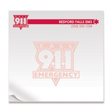 Emergency Call 911, 50 Sheet Sticky Pad