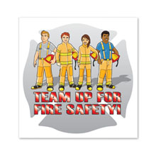 Fire Team Temporary Tattoo.- Closeout, On Sale!