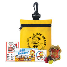 Bee Smart Zippered Clip Pouch Kit, Stock