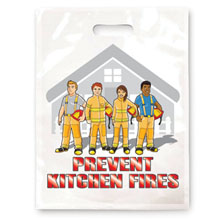 Prevent Kitchen Fires Full Color Litterbag, Stock - Closeout!