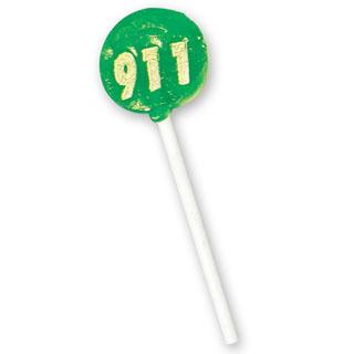 911 Theme Lollipop, Stock- Closeout!