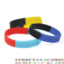 Silicone Awareness Wristband Bracelet, Segmented Colors - Free Shipping!