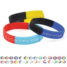Silicone Awareness Wristband Bracelet, Segmented Colors - Free Shipping!
