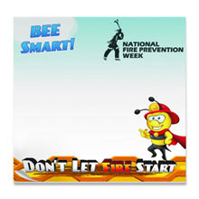 Bee Smart Don't Let Fire Start, 50 Sheet Sticky Pad