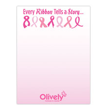 "Every Ribbon Tells a Story - 4"" x 6"", 25 Sheet Sticky Pad"