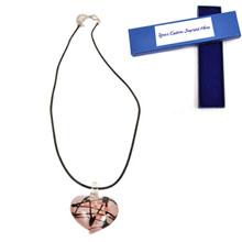 Hand Blown Glass Heart Necklace