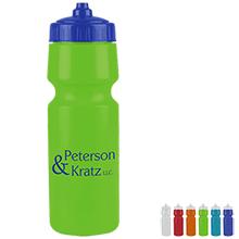 Premium Fill View Stripe Sports Bottle, 24oz. - Valve Lid