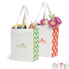 Cotton Market Tote - Free Set Up Charges!