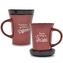 "Appreciation Tea Mug , ""Thanks For Being So 'Tea'rrific!"" Design, Stock"