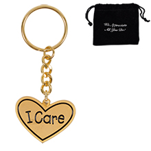 I Care, Appreciation Keychain, Stock