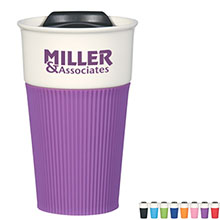 Ceramic Mug w/ Silicone Grip, 13oz.
