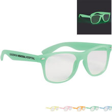 Glow-in-the-dark Glasses w/ Clear Lenses