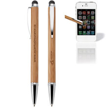 Asia Bamboo Ballpoint Pen & Stylus