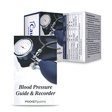 Blood Pressure Guide & Record Keeper Pocket Point