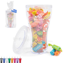 Fountain Soda Tumbler Gift Set w/ Tootsie Fruit Rolls, 16oz.