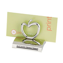Chrome Metal Business Card Holder, Apple