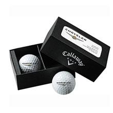 Callaway® 2-Ball Business Card Box w/ Hex Warbird Balls