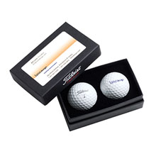 Titleist® 2-Ball Business Card Box