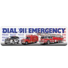Dial 911 Emergency Bookmark, Stock