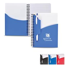 "Cadence Notebook w/ Pen, 5-1/2"" x 7"""