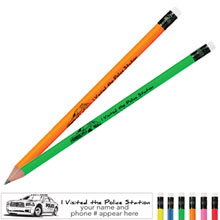 I Visited the Police Station Neon Pencil