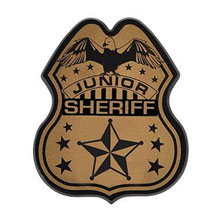 Junior Police Officer Badge, Direct Print