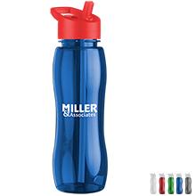 Slim Grip Tritan™ Bottle, 25oz. - Flip Straw Lid - Free Set Up Charges!