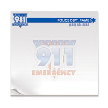 Call 911 Emergency, 25 Sheet Sticky Pad
